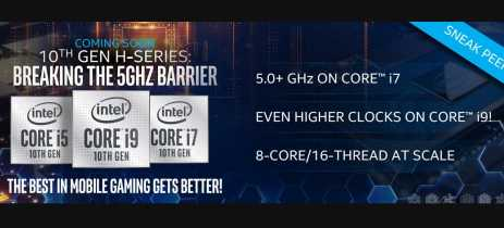 Intel mostra a 10ª de CPUs para notebooks gamers: 8 núcleos  com turbo a mais de 5GHz