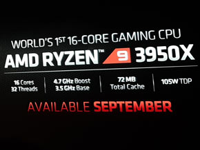 "AMD apresenta o Ryzen 9 3950X, CPU ""monstro"" com 16 núcleos e 32 threads por US$ 749"