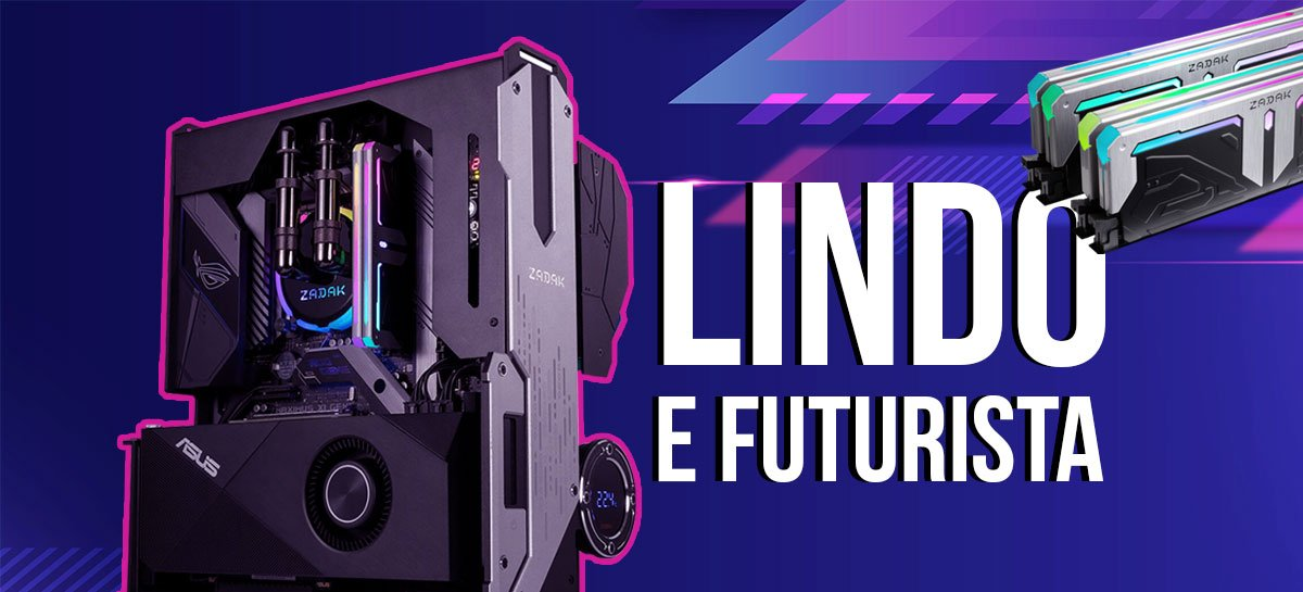 Gabinete lindo! Unboxing do Zadak MOAB II Elite?